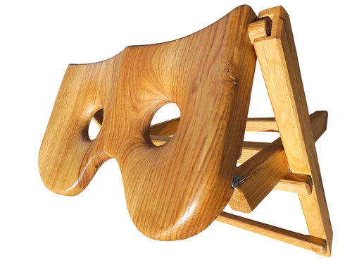 klapphocker rollsitz massiv holz eiche handmade ruderdesign online. Black Bedroom Furniture Sets. Home Design Ideas